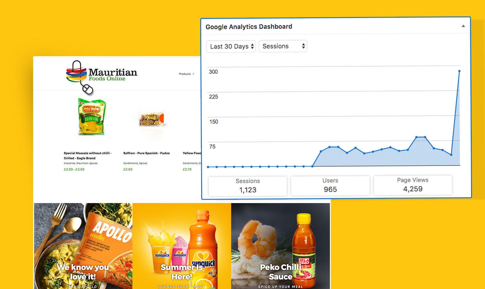 Mauritian Foods Online - Analytics